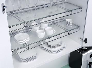 entrepaños en vidrio Vauth Sagel - Fanáticos por las Cocinas