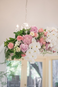 wedding ceremony arch flowers details