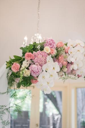 wedding ceremony arch flowers details