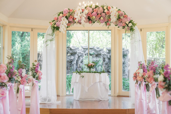 beautiful wedding arch flowers