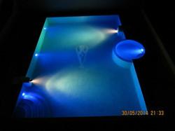 Вечерний бассейн  с подстветкой