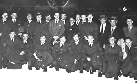 RAF Touring team outside plane {Neville