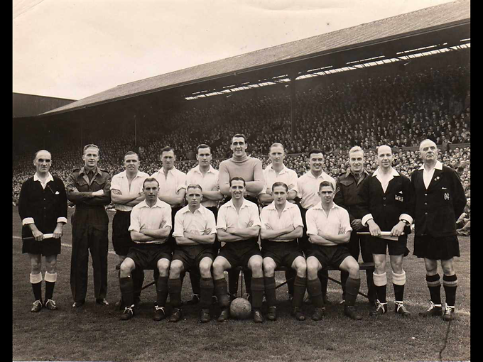 RAF v Scotland at Hampden Park {Mercer F
