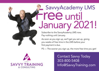 SavvyAcademy LMS Free Until January 2021