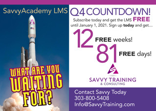 SavvyAcademy LMS Free Until January 2021!