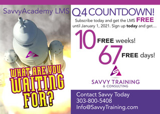SavvyAcademy LMS: Free for 10 Weeks!