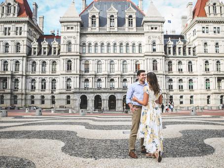 Ethan & Jenna's Albany Engagement Shoot