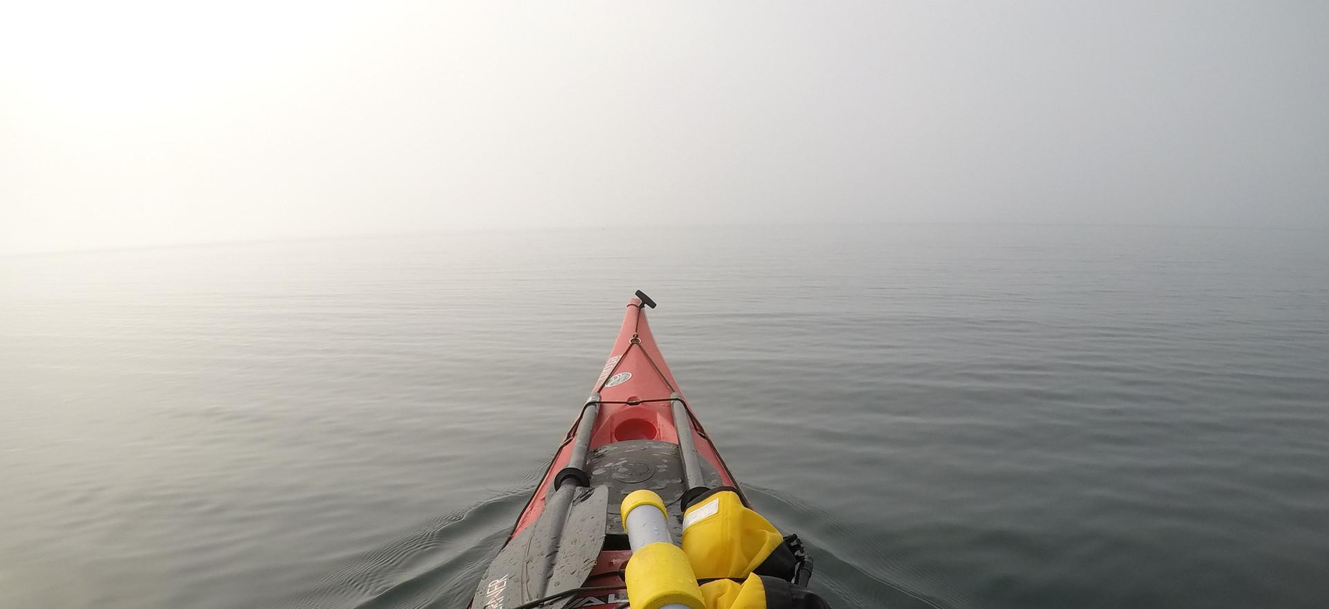 A Foggy day near Rocky Island on Lake Superior.