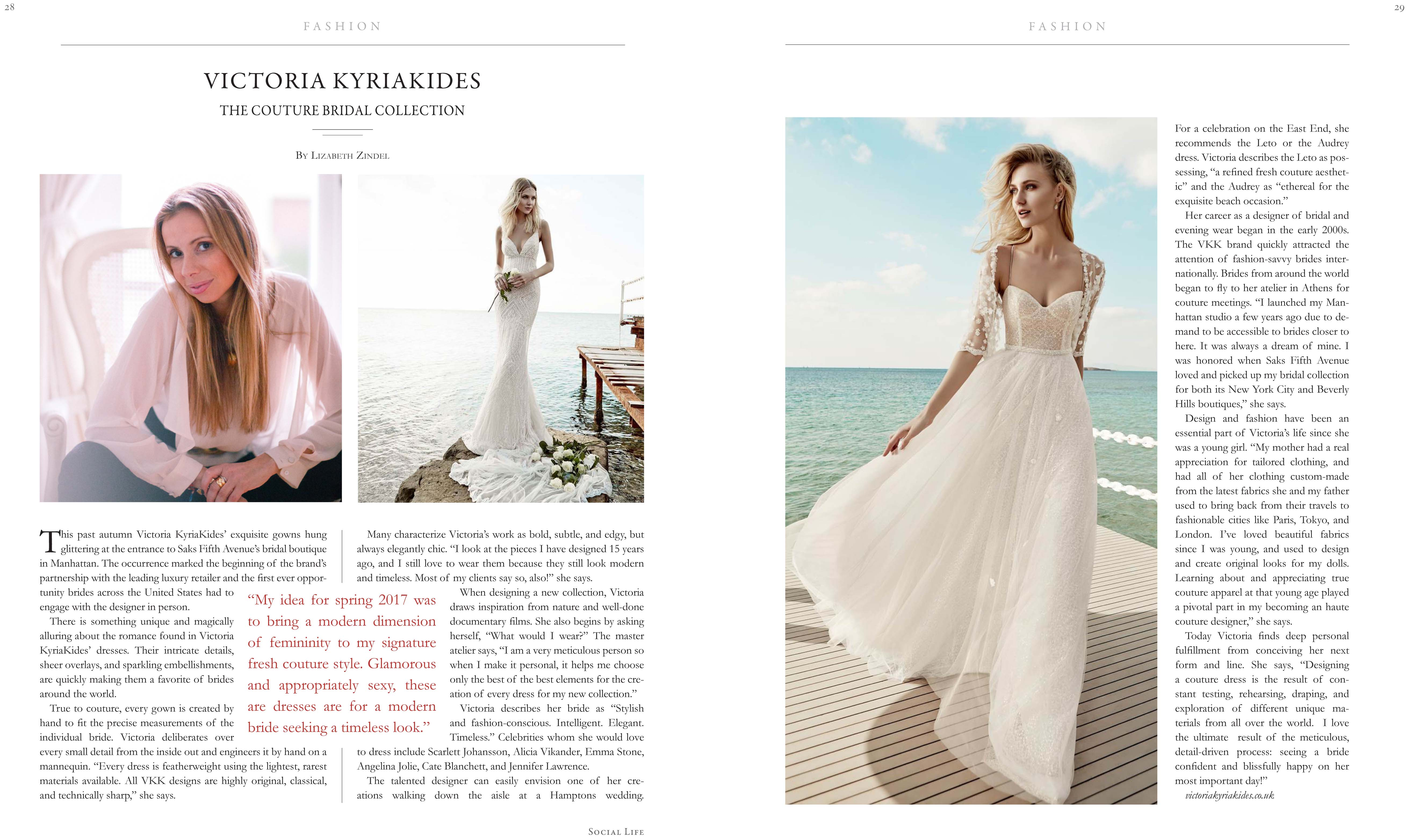 c4ff23df327 VICTORIA KYRIAKIDES THE COUTURE BRIDAL COLLECTION - Social Life ...