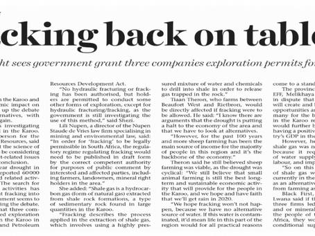 Fracking and economic alternatives for the Karoo