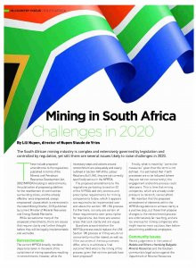 Mining in South Africa: Challenges in 2020