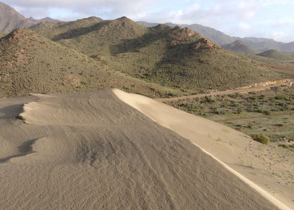 Geography field studies sand dunes deserts arid semir arid drylands spain