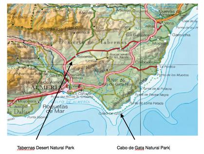 Geography field studies desert aird spain