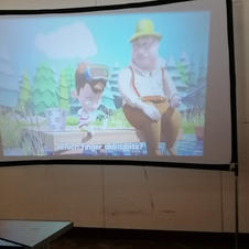Projector watching youtube disney videos