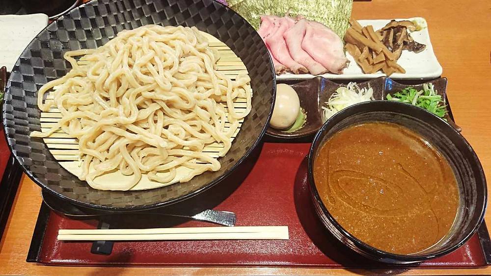 Tsukemen (Dipping Ramen) at Nidaime Menya Akimoto in Setagaya, Tokyo.