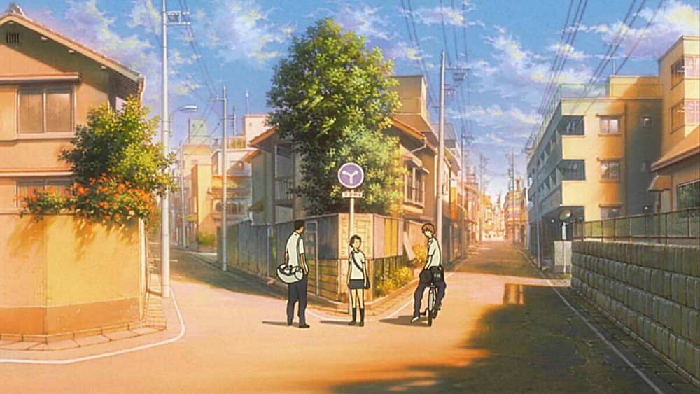 Japanese cityscape from the anime film The Girl who Leapt through Time.