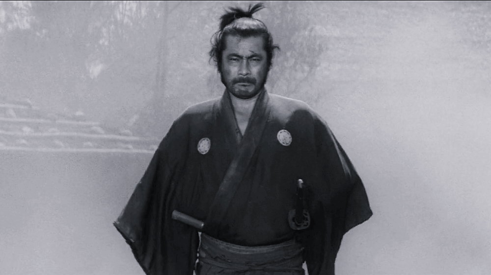Toshirô Mifune plays a super-samurai in Yojimbo, by Akira Kurosawa