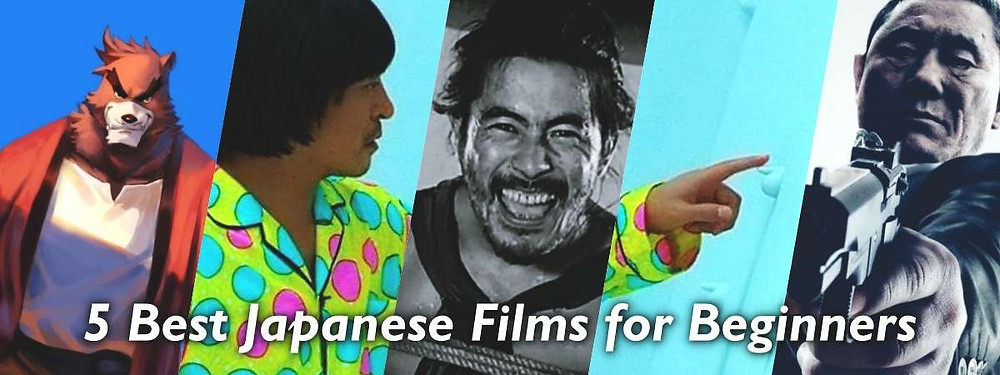 Banner showing JCA's top 5 Japanese films for beginners