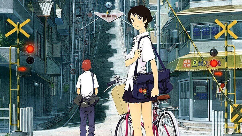 Japanese everyday life from the anime film The Girl who Leapt through Time.
