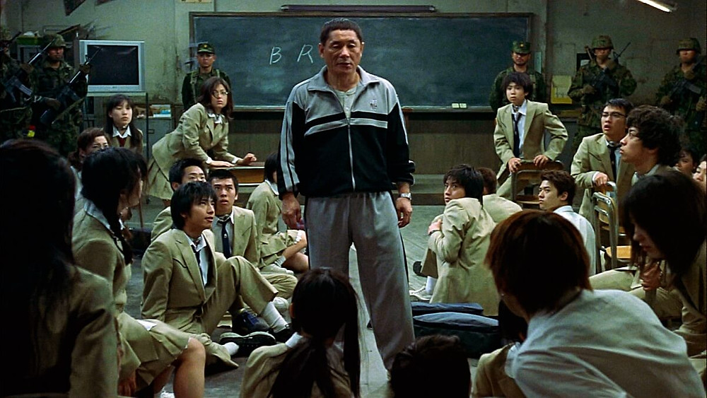 Kitano Takeshi in the Japanese movie Battle Royale