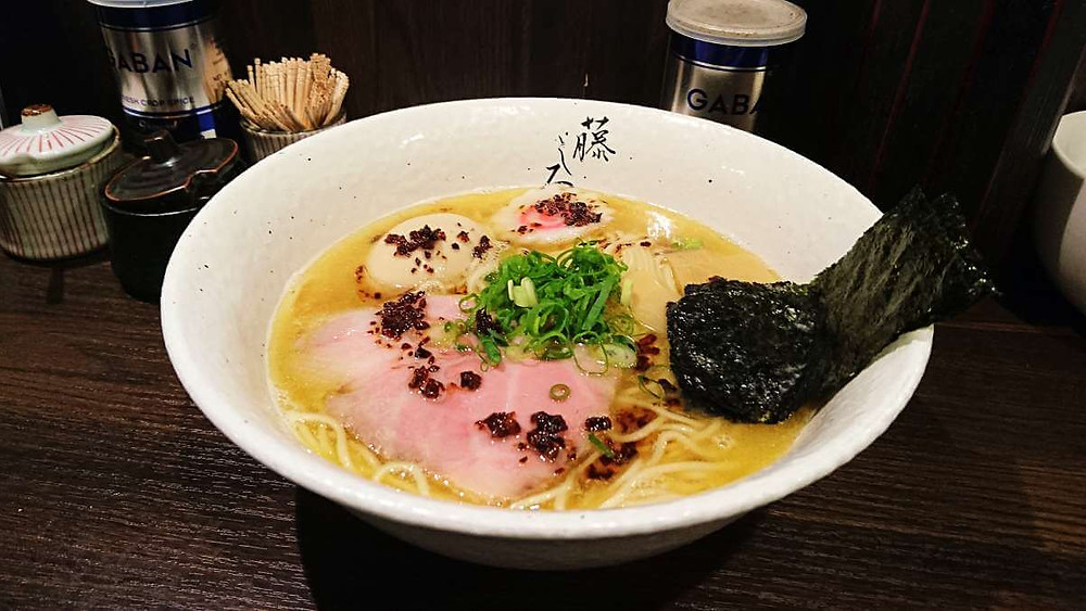 A bowl of Toripaitian Ramen at Fujishiro Ramen in Sangenjaya, Toyko.