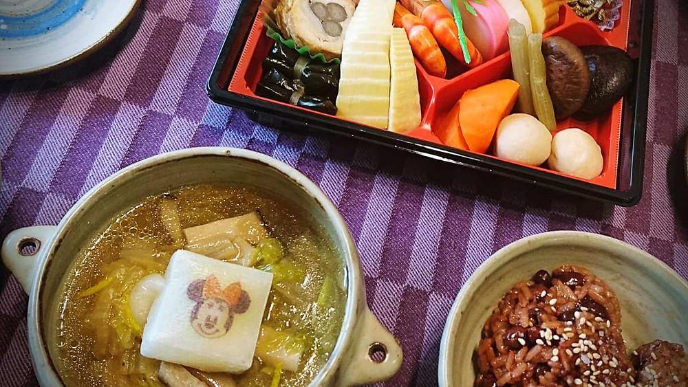 Japanese New Year Food - Ozouni and Osechi