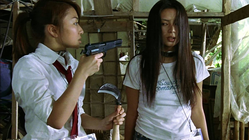 Two characters from the Japanese movie Battle Royale