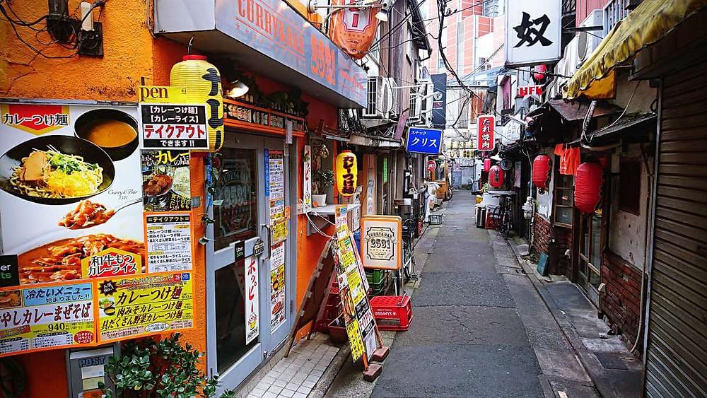 A narrow alleyway in Sangenjaya, Tokyo.