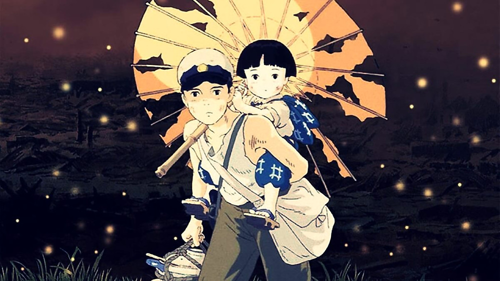The two siblings in the anime film Grave of the Fireflies
