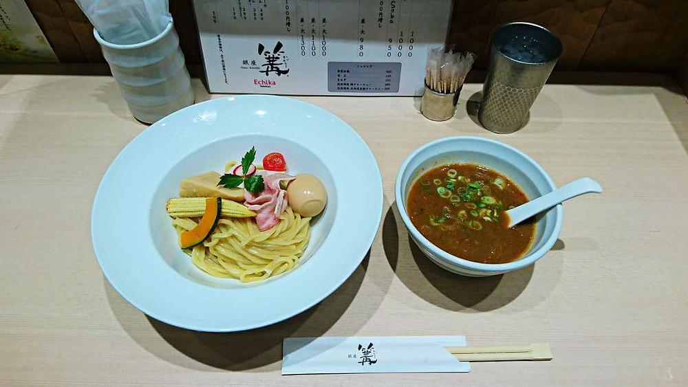 A bowl of Michelin Ramen at Kagari, Ikebukuro Branch, Tokyo.