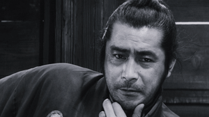 Toshirô Mifune as Sanjuro the samurai, in the film Yojimbo by Akira Kurosawa