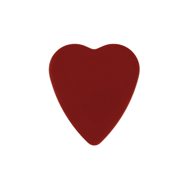 Custom heart shaped guitar pick
