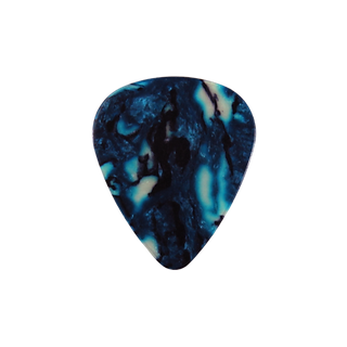 Blue marble guitar pick