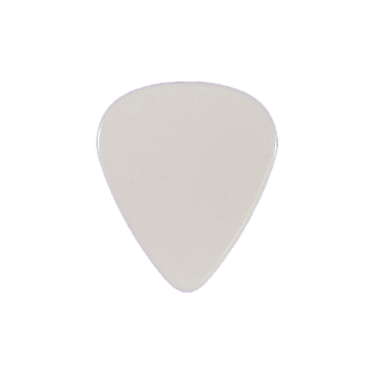 White guitar pick