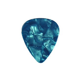 Teal pearloid guitar pick