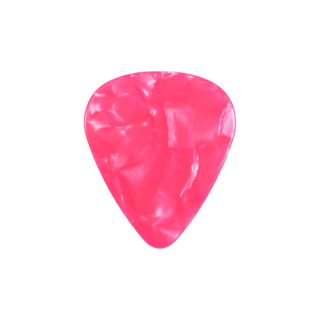 Pink pearloid guitar pick