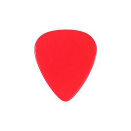 Fresh red guitar pick