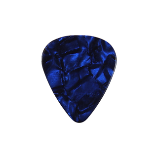 Blue pearloid guitar pick