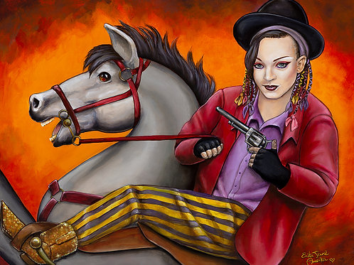 Cow-Boy George print-Erika Jane