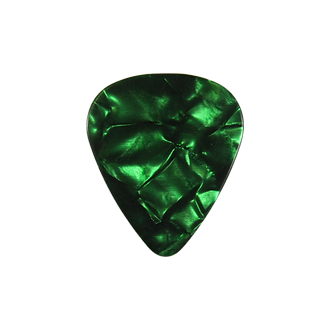 Green pearloid guitar pick