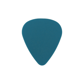 Neon blue guitar pick