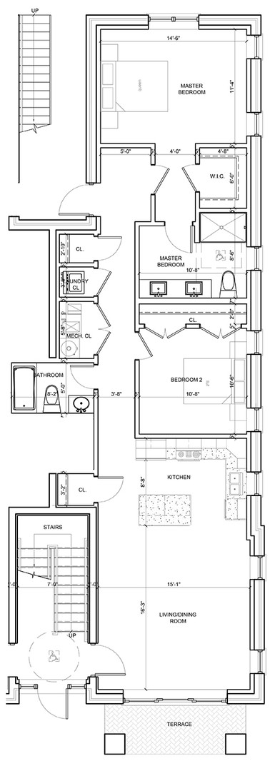 First Floor Outside Right Unit Layout