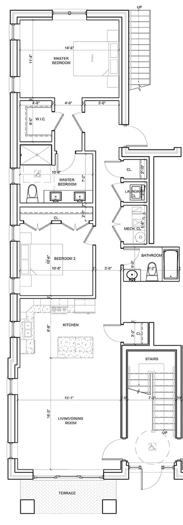 First Floor Outside Left Unit Layout