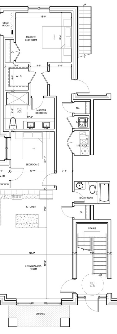 First Floor Center Right Unit Layout