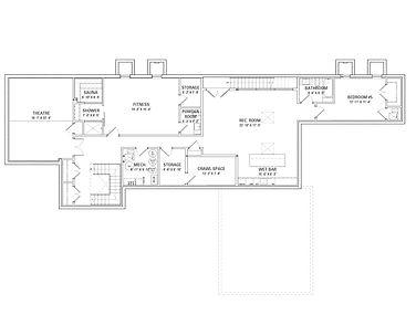 921 Sheridan Road Floor Plans - Lower Level
