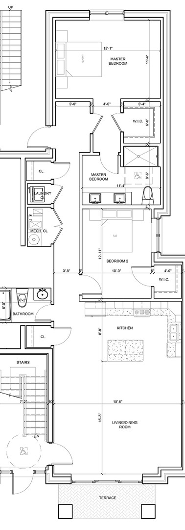 First Floor Center Left Unit Layout