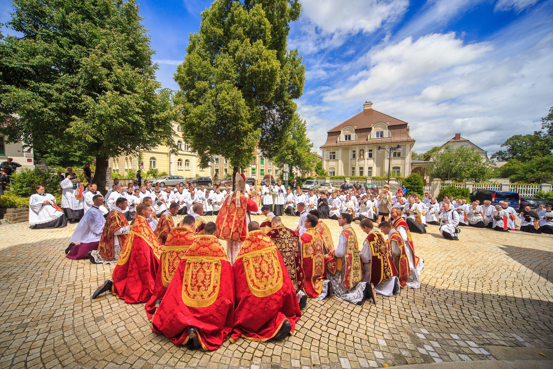 Kardinal segnet die Neupriester