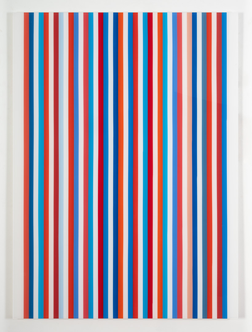 Red & Blue Stripte Painting #1