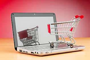 Internet online shopping concept with co