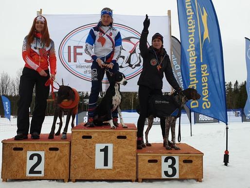Cindy Pool derde plaats IFSS European Championship Snow 2020